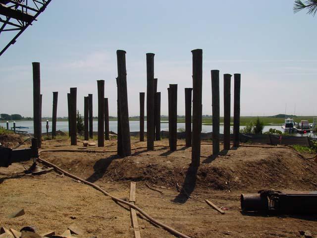 New pilings for new RI Hurricane code