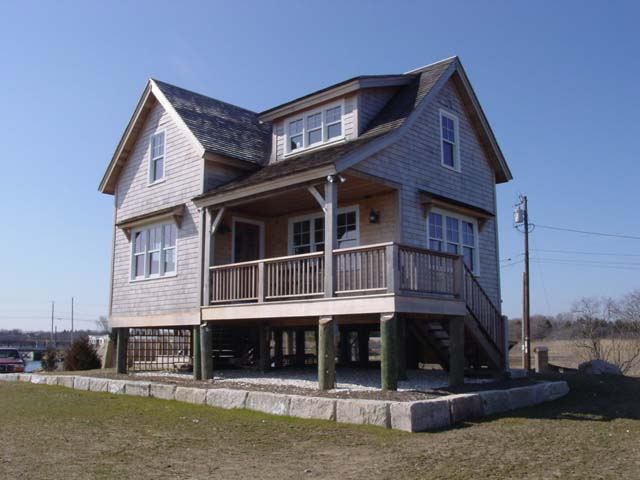 Rear side of home facing ocean and estuary